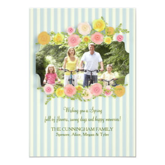 Hora para o cartão com fotos do primavera convite 12.7 x 17.78cm