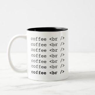 Hora para um café <br /> Codifique a caneca