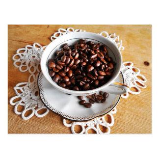 Hora para uma chávena de café cartão postal