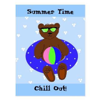 Horas de verão cartão postal
