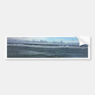 Horizonte da praia adesivo para carro
