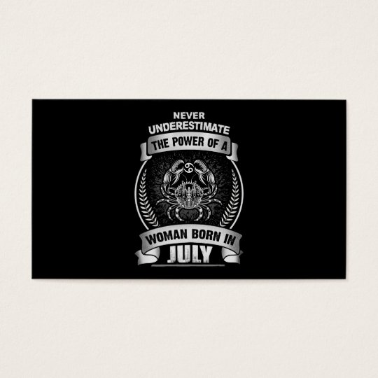 Horóscopo julho cartão de visitas