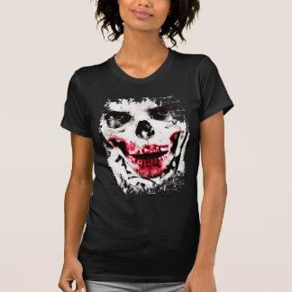 Horror assustador do homem do zombi da cara do camiseta