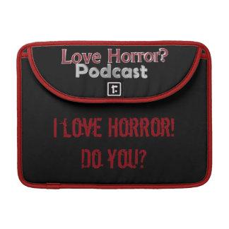 "Horror do amor? Podcast Macbook pro 13"" luva Capa Para MacBook"
