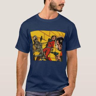 Horror do espaço - arte cómica da ficção camiseta