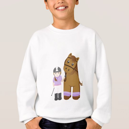 Horse and girl - Menina e cavalo Agasalho