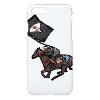 Horseback capa de telefone do samurai