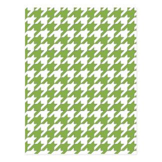 hortaliças e branco do houndstooth cartão postal