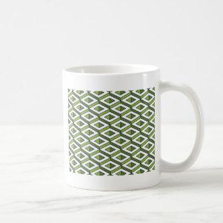 hortaliças e couve da geometria 3d caneca de café