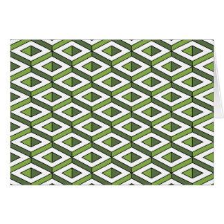 hortaliças e couve da geometria 3d cartão comemorativo