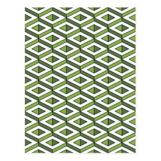 hortaliças e couve da geometria 3d cartão postal