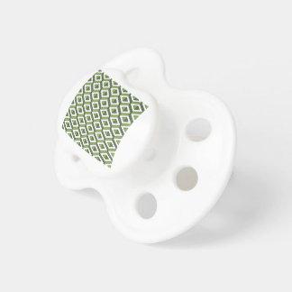 hortaliças e couve da geometria 3d chupeta de bebê