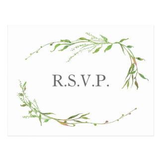 Hortaliças RSVP Wedding botânico Cartão Postal