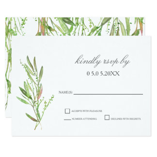 Hortaliças RSVP Wedding botânico Convite 8.89 X 12.7cm