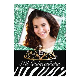 Hortelã do aniversário | de Quinceañera da zebra Convites Personalizados