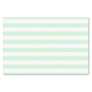 Hortelã e lenço de papel listrado branco