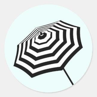 Hortelã listrada chique do logotipo do adesivo