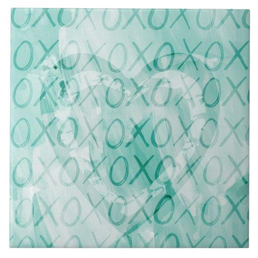 Hortelã XOXO Azulejos De Cerâmica