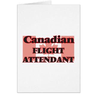 Hospedeiros de bordo canadenses cartão comemorativo