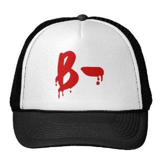 Hospital negativo do Horror do grupo sanguíneo b Boné
