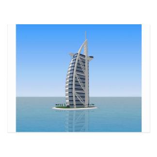 Hotel árabe Dubai do Al de Burj: modelo 3D: Cartao Postal