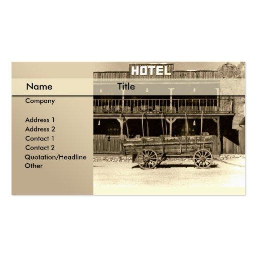 hotel \ cama - e - pequeno almoço \ pensão modelo cartoes de visita