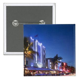 Hotel da baliza, movimentação do oceano, Miami Bea Bóton Quadrado 5.08cm