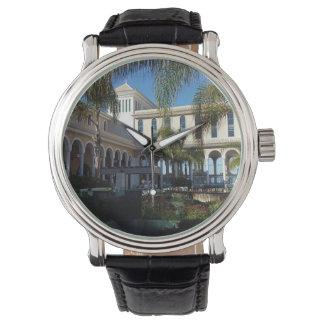 Hotel de Tenerife e relógio do couro das palmeiras