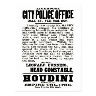 Houdini no cartão de Liverpool