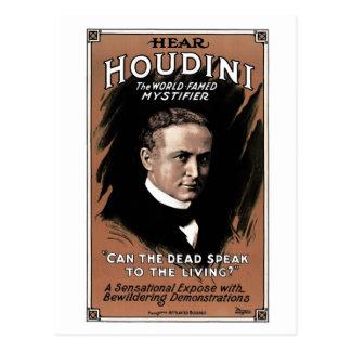 """Houdini - """"pode o morto falar"""" o cartão"""