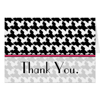 Houndstooth e cartões de agradecimentos