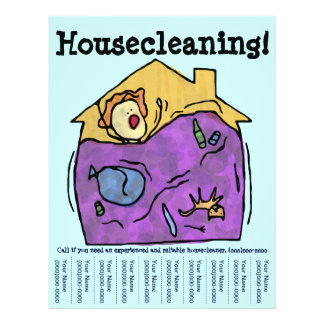 Housecleaning! Insecto Modelo De Panfleto