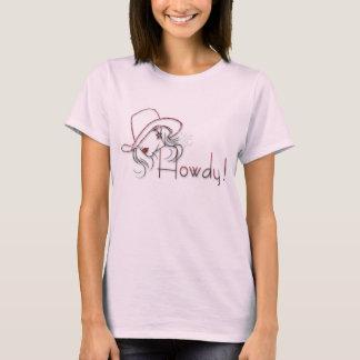 howdy camisa cor-de-rosa da vaqueira