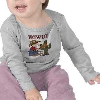 Howdy t-shirt de Catus do cavalo de vara do