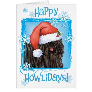 Howliday feliz Puli Cartão Comemorativo