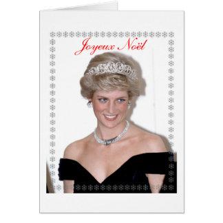HRH a princesa de Wales Joyeux Noël Cartão Comemorativo