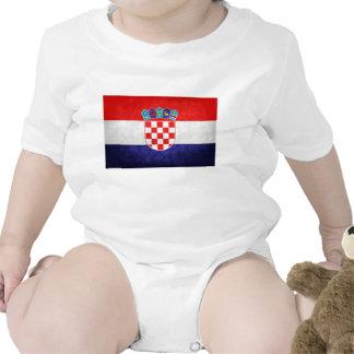 Hrvatska; Bandeira de Croatia Camisetas