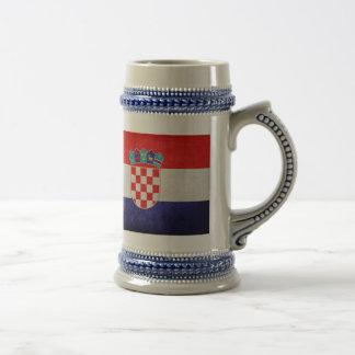 Hrvatska; Bandeira de Croatia Canecas