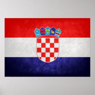 Hrvatska; Bandeira de Croatia Poster