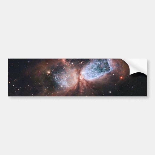 Hubble: Imagem composta de Subaru da Estrela-Forma Adesivo