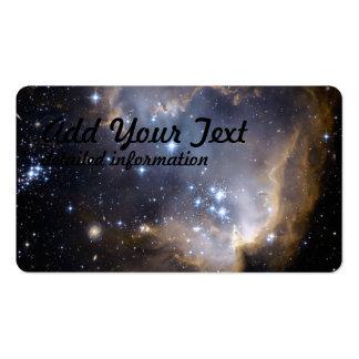 Hubble observa estrelas infantis na galáxia próxim cartões de visitas