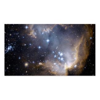 Hubble observa estrelas infantis na galáxia próxim modelos cartões de visitas