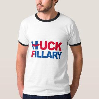 HUCK FILLARY - Hillary curvada - - Anti-Hillary -. Tshirts