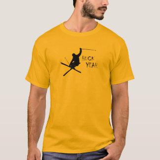 Huck yeah (esqui) camiseta
