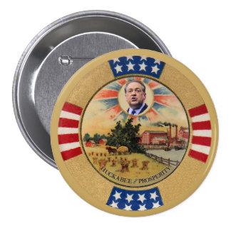 Huckabee e prosperidade bóton redondo 7.62cm
