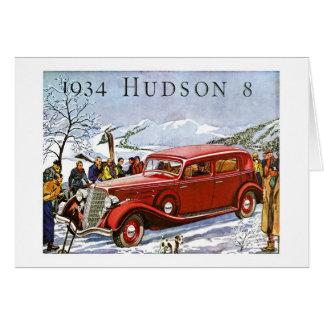 Hudson 1934 8 - propaganda do vintage cartões