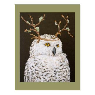 Hudson o cartão nevado da coruja