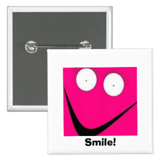 HUH, sorriso! Bóton Quadrado 5.08cm