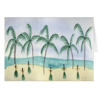 Hulas nos cartões da praia