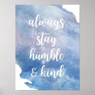 """Humble + Da"" poster amável aguarela"